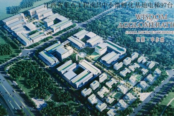 Цзянси провинции ключевые проекты Наньчан небольшой инкубатор базы лифт 97 комплектов